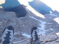 Rock Climbing Photo: View from the summit straight down to Royce Lakes