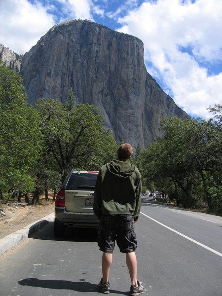 """""""You're bigger than me.""""  El Capitan, September, 2010."""