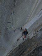 Rock Climbing Photo: Sucking the Nipple on Zodiac, El Capitan.