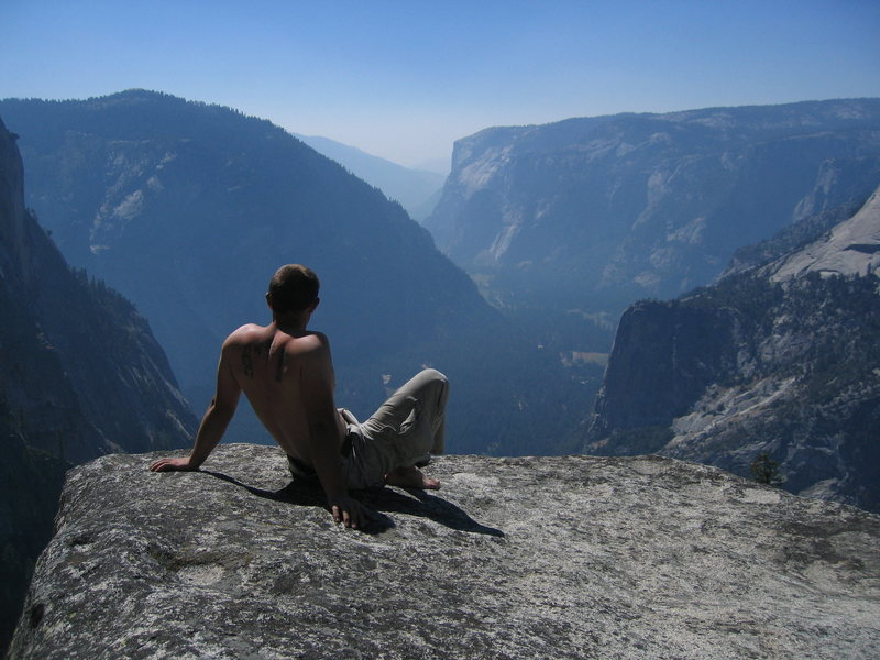 Rock Climbing Photo: El Capitan and Yosemite Valley as seen from the ba...