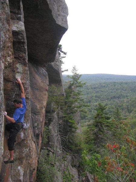 Rock Climbing Photo: Jut on Push @ Good Luck Cliffs.