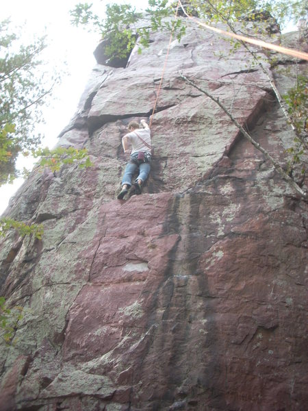 Andy right before the crux.