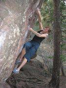 Rock Climbing Photo: Paige Classen working Hollow's Way.