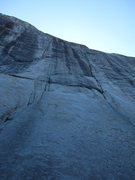 Rock Climbing Photo: Cheetos starts up the left of the two, low-class c...