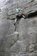 Rock Climbing Photo: Patrick leading New River Gunks During the 2010 Ne...