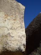 Rock Climbing Photo: Ionic Strength ascends the obvious arete on the le...