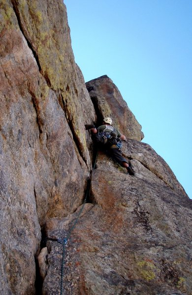 Rock Climbing Photo: The 3rd pitch, just below the 5.11 section.  The 5...