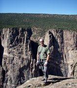 Rock Climbing Photo: The Hanging Chad celebrates on the rim.