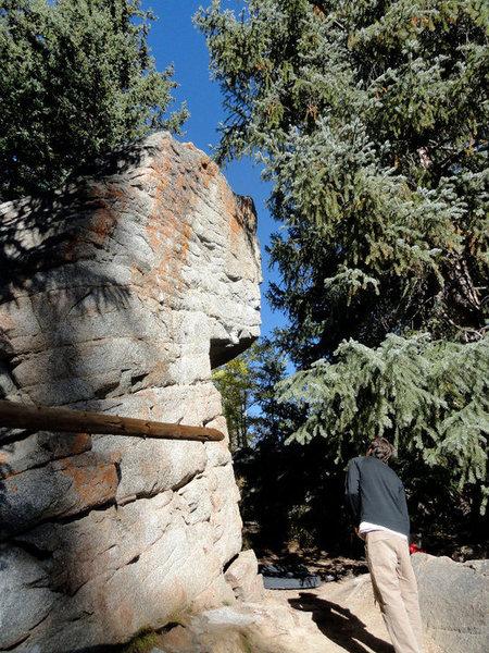 The left side of Jaws Boulder.