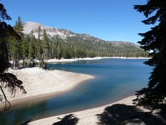 Rock Climbing Photo: Horseshoe Lake with Mammoth Mountain in the backgr...