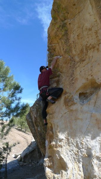 Dave Shearer on Don't Tell Mom/5.11b at Ute Valley Park, Colorado Springs, CO