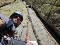 Rock Climbing Photo: on the Durrance Route