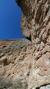 Rock Climbing Photo: Entering the crux on Straight on til Morning.