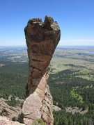 Rock Climbing Photo: West Face from the top of P1.