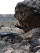 Rock Climbing Photo: Enjoying sharp spines on Mano Dura, V4, Escondido ...