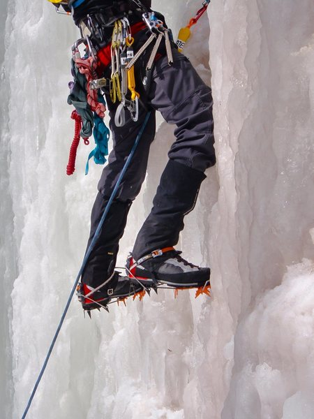 profile pic, ice climbing