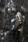 Rock Climbing Photo: Joe Kinder on Waimea during the Nor'easter 2010