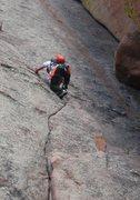 Rock Climbing Photo: Walt's Wall, 5.4, lead by Cole Finne