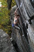Rock Climbing Photo: Daniel Woods sticking the upper crux move...