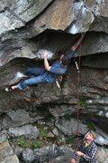 Rock Climbing Photo: Jeff down low on the steep stuff... jared on belay