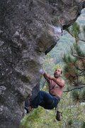 Rock Climbing Photo: Jakob making the last clip...