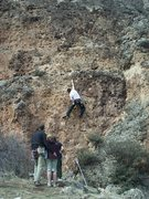Rock Climbing Photo: Cliff Sharp, a strong lead.