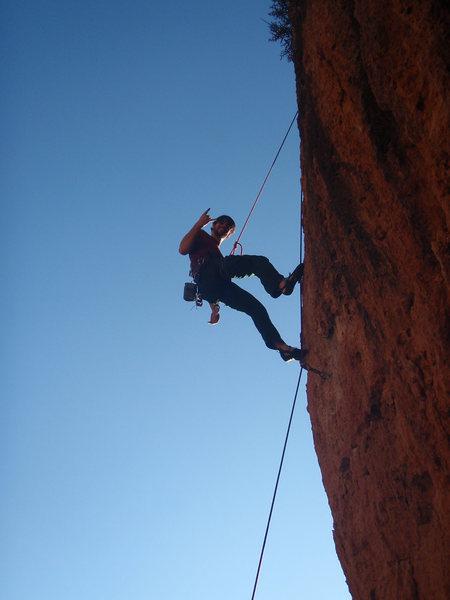 Rock Climbing Photo: me at Poo's Corner