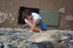 Rock Climbing Photo: Colton Eaker on the Triangle Boulder