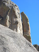 Rock Climbing Photo: Upper part of Wolf's Tooth.