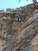 Rock Climbing Photo: at the long ass-move crux, about to go for the big...