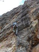 Rock Climbing Photo: at the cruxy roof. photo by jenna ashler.