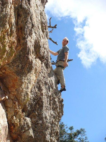 Rock Climbing Photo: whew! that was gnarly. photo by jenna ashler.
