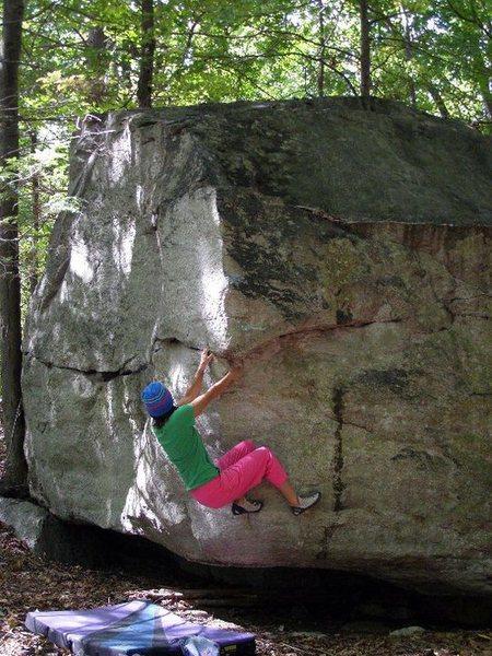 Rock Climbing Photo: Single Right.  Bonticou.