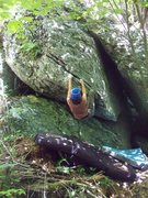 """Rock Climbing Photo: FA of """"Far Side"""" at GHSP."""