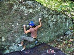 Rock Climbing Photo: Move one...