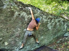 Rock Climbing Photo: Move three... to top out!