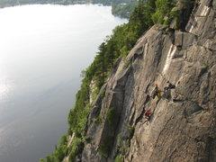 Rock Climbing Photo: Breaking pitch 2 in 2 is always fun!