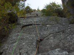 Rock Climbing Photo: The first pitch start