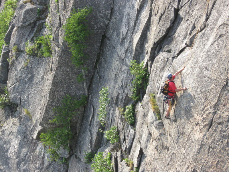 Rock Climbing Photo: Crux pitch 2