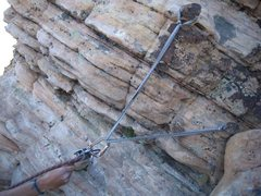 Rock Climbing Photo: An unnecessarily sketchy anchor at the top of the ...