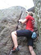 Rock Climbing Photo: Reaching for the jug