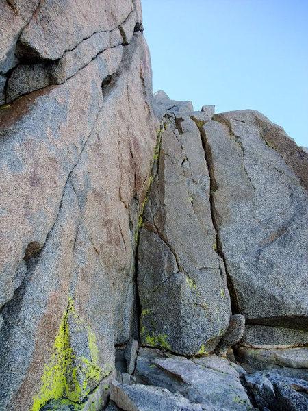 Rock Climbing Photo: Swiss Arete crux (one move wonder)