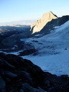 Rock Climbing Photo: final light on Galey