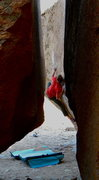 Rock Climbing Photo: Jordan Seering balances up on Mister Witty