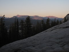 Rock Climbing Photo: Sunset over Mt. Conness from Razor Back.