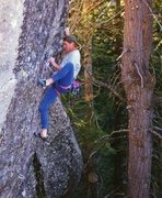 Rock Climbing Photo: great little power route up the overhanging arete ...