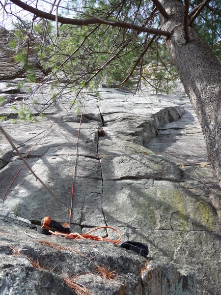 Rock Climbing Photo: King of P is a nice little crack that is not Littl...