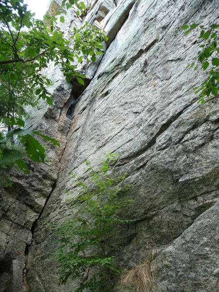 Rock Climbing Photo: P1 of Overhanging Layback