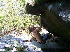 Rock Climbing Photo: Pete on Fist Fucker. Some slopers on Green Haze ca...