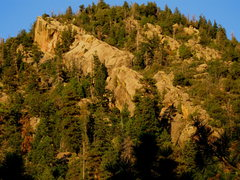 Rock Climbing Photo: The sunset lit Red Dragon as seen from the approac...